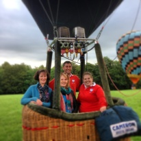 in balloon with Cressida